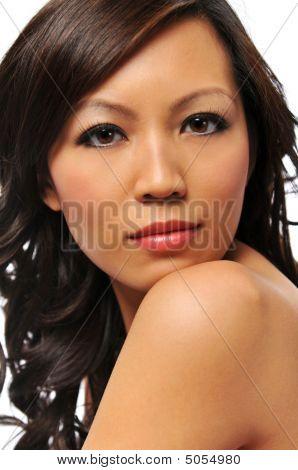 Beautiful Young Asian Fashion Model