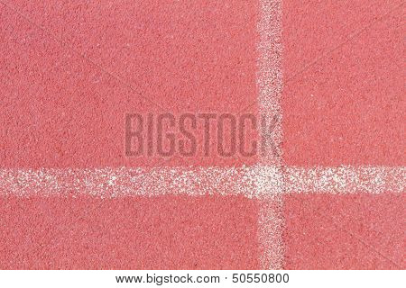 Tartan Floor On Track And Field Area White Line