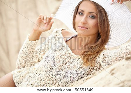 Summer vacation woman on beach