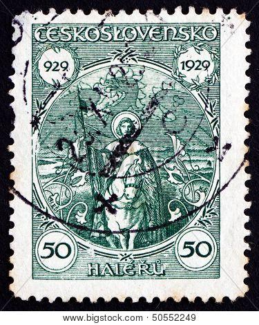 Postage Stamp Czechoslovakia 1929 St. Wenceslas