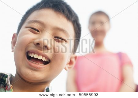 smiling boy, portrait