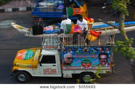 Bjp Election Campaign Van