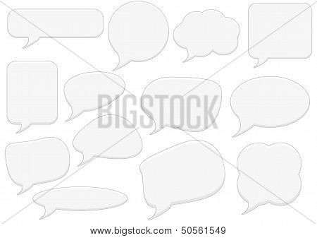 Text bubbles set