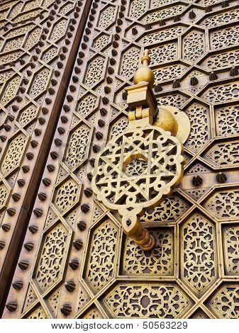 Doors Of The Hassan Mosque In Rabat, Morocco