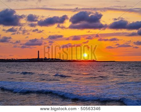 Sunset In Casablanca, Morocco