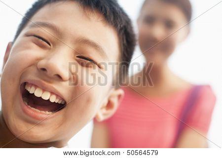 smiling boy, portrait