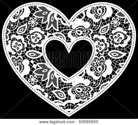 lace wedding heart applique