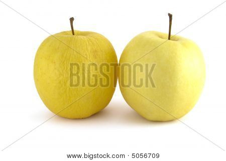 Wrinkled And Fresh Apples