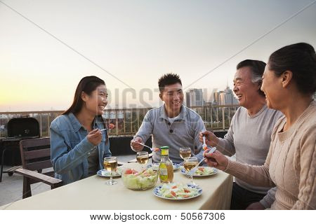 Family barbeque party