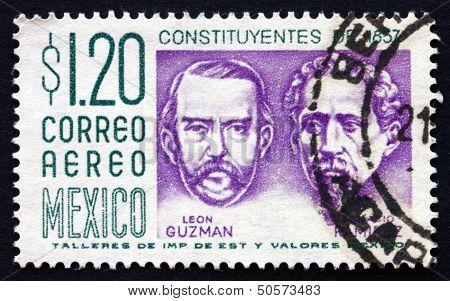 Postage Stamp Mexico 1956 Leon Guzman And Ignacio Ramirez