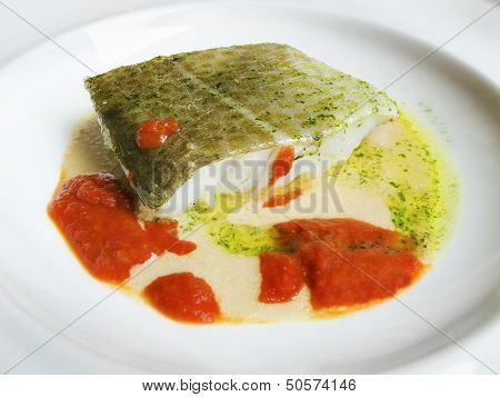 Cod In Green Sauce, Basque Cookery.