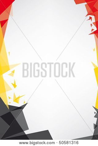 background origami of Belgium.  a design background (Origami style) for a very nice poster