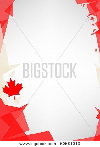 background origami of Canada. a design background (Origami style) for a very nice poster