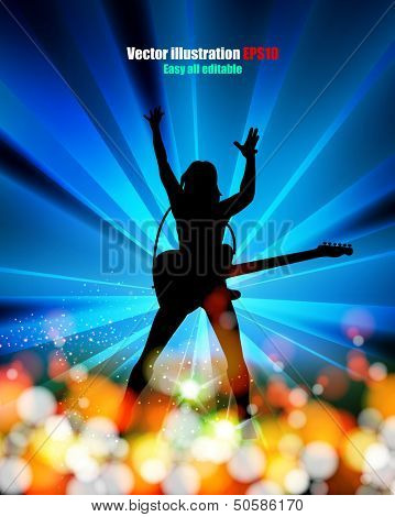 illustration of music,  abstract background   easy editable