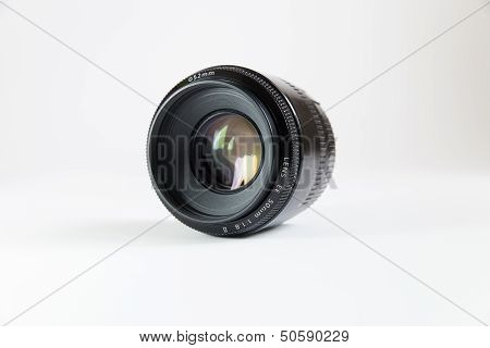 Black Lens On A White Background