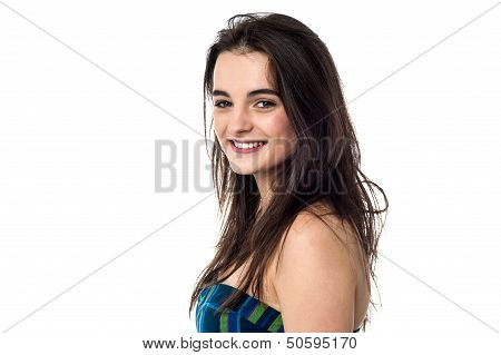 Glamorous Young Teenager Smiling