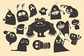 Halloween ghosts characters.