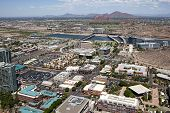 stock photo of piestewa  - Aerial view of downtown Tempe Arizona and town lake - JPG