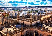 City View Tower From Giralda Tower Seville Cathedral Spain
