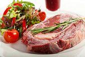 pic of rib eye steak  - Rib Eye Steak with Thyme - JPG