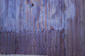 old aluminum siding - purple