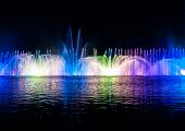 foto of vinnitsa  - Musical fountain with colorful illuminations at night - JPG