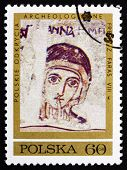 Postage Stamp Poland 1971 St. Anne, Fresco