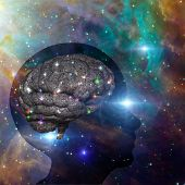 stock photo of homo  - Universal Mind elements furnished via NASA - JPG