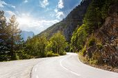 Fantastic road in Tara  - is the second biggest canyon in the world and the biggest one in Europe in the national park Durmitor in Montenegro. Balkans. Beauty world. poster