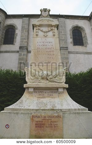 World War I monument in Pommard, France
