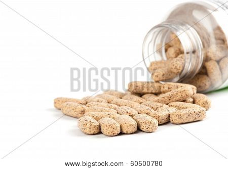 Multivitamin Tablets On White