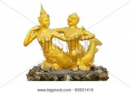 Hanuman And Mermaid Statue