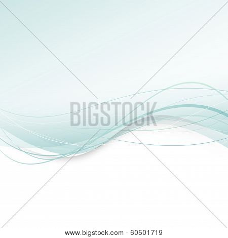Abstract Green Swoosh - Halftone Background