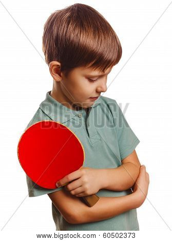 boy upset lost setback table tennis ping pong