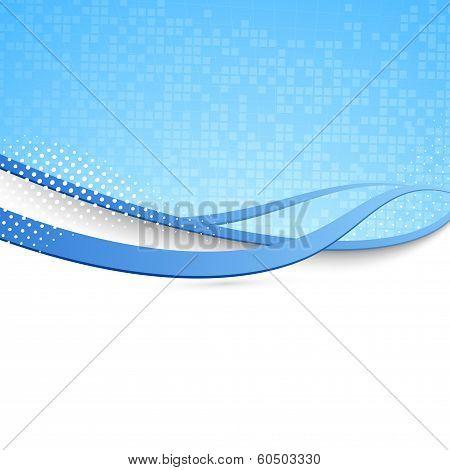 Blue Swoosh Background - Modern Wave Concept