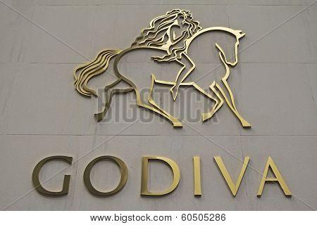 Godiva Chocolatier Company Sign