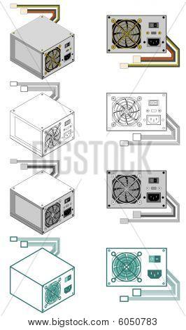 Computer power supply box