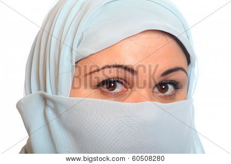 Portrait of a young moslem woman.