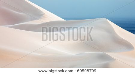 White sand dunes in Socotra Island