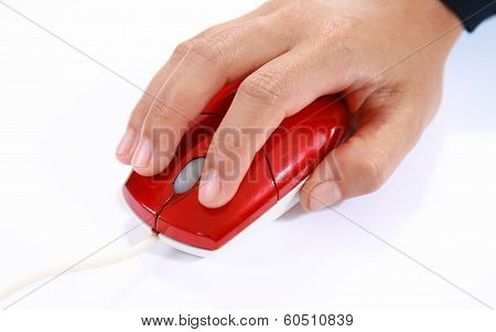 Hand Using A Mouse Computer