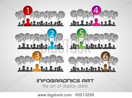 Infographic design template. Ideal to display information, ranking and statistics with an original and modern style.