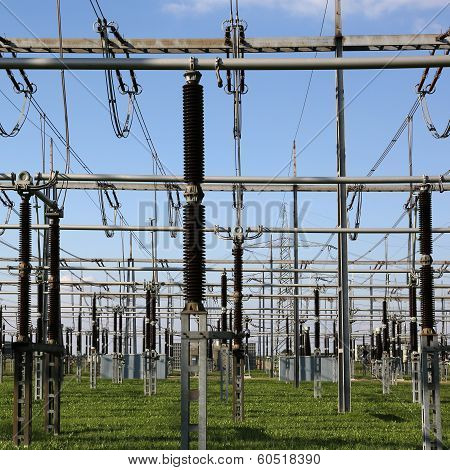 Electrical Substation With Transformers Energy And Electricity Topic