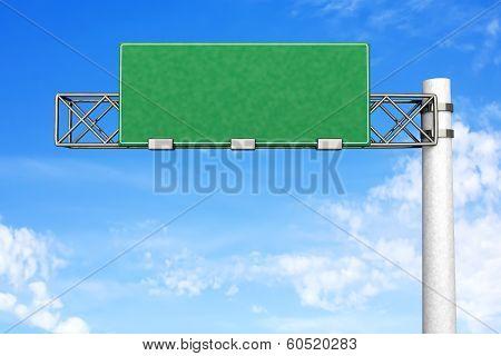 Empty Highway Sign..