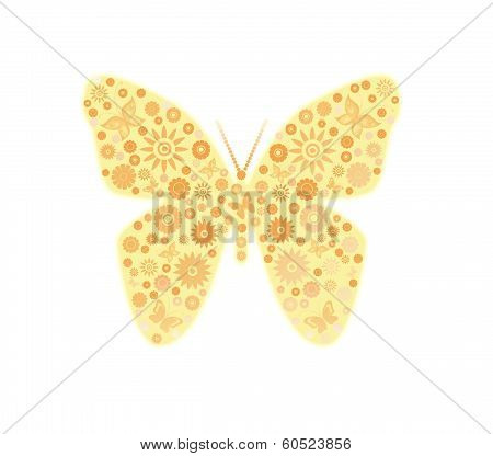 Yellow butterfly.