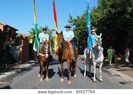 Men on horses, Marbella, Spain.