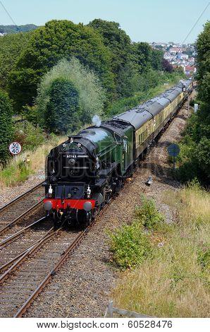 Steam Locomotive Tornado at Paignton