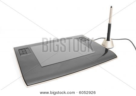 PC tablet isolated on white background. Computer peripherals.