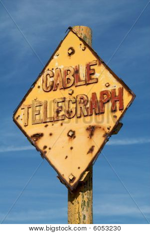 Telegraph Cable Warning Sign