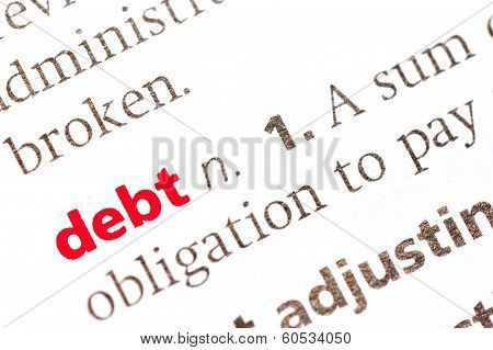Definition Of  Debt