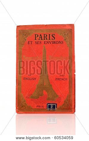 Red Cover Old Paris City Map
